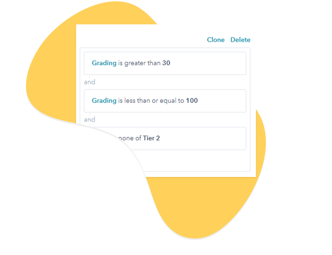 Rules on active list for hubspot scoring